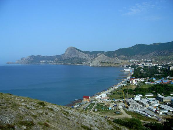 Судакская бухта. Вид с горы Алчак. - Юго-Восточный Крым