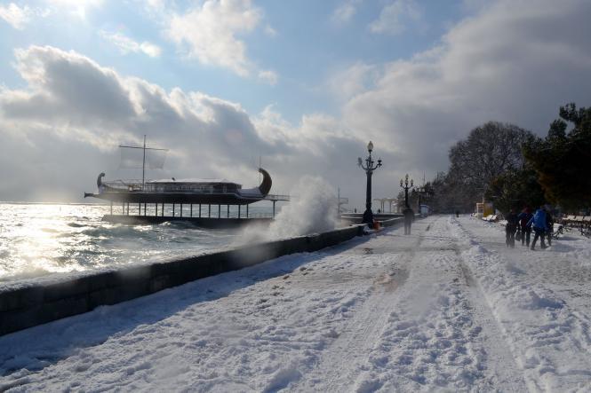 Ялта. Набережная - Зимний  Крым